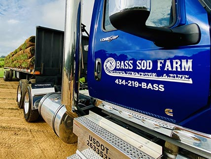 bass sod delivery pickup service